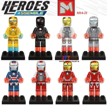 1pcssuperhero Iron Man Ultron MK6 MK7 Series building blocks model bricks toys for children classic hobbies