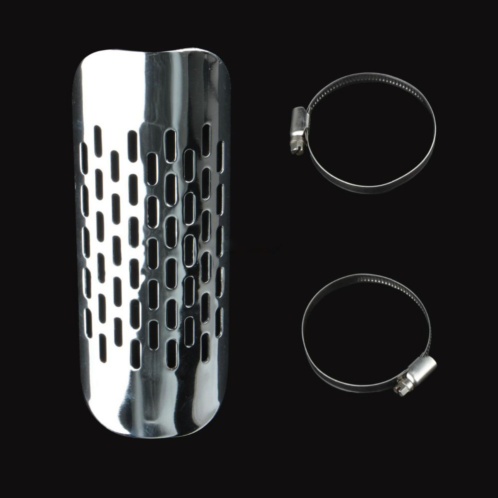 Chrome Exhaust Muffler pipe Cover For Kawasaki Cruiser Heel Guard Heat Shield Cover Moto ...