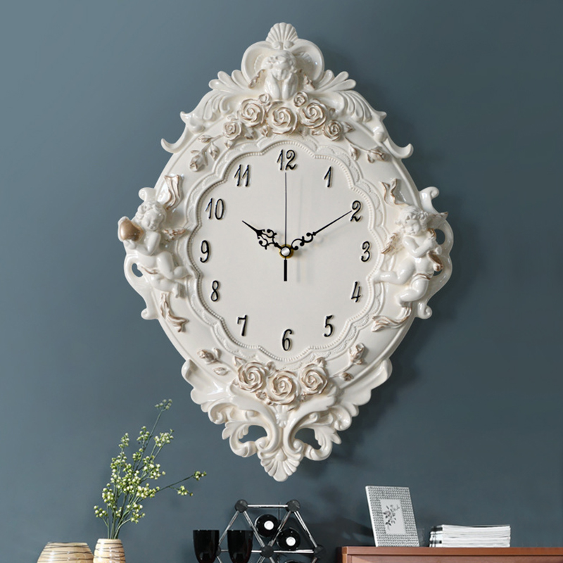 3D Europe Vintage Wall Clock Mural Home Decoration Accessories Modern Large Single Face Digital Needle Clock