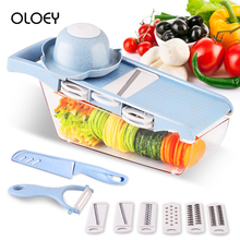 OLOEY Creative Vegetable Chopper Multi-function Manual Food Slicer Peeler Kitchen Potato  Cutter Grater Tools Accesories