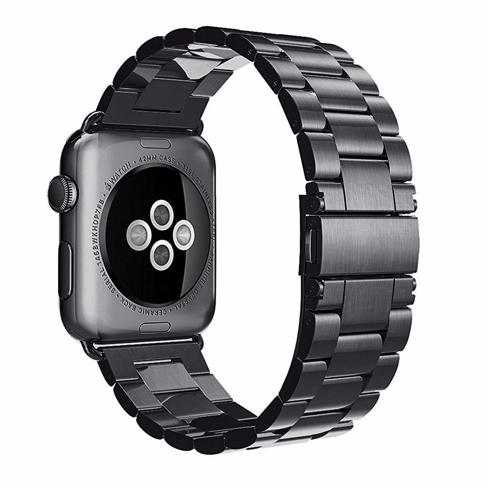 Stainless steel metal correa for apple watch 42mm/38mm Accessories iWatch series 3 2 1 band bracelet smart watch strap