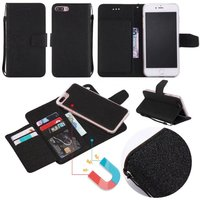 For IPhone 6s Case Detachable Wallet Magnetic 2 In1 Card Slot Strap Flip Leather Cases For