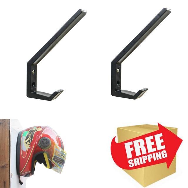 Suporte para capacete de motocicleta, 2 pçs/lote, cabide de jaqueta, montagem na parede