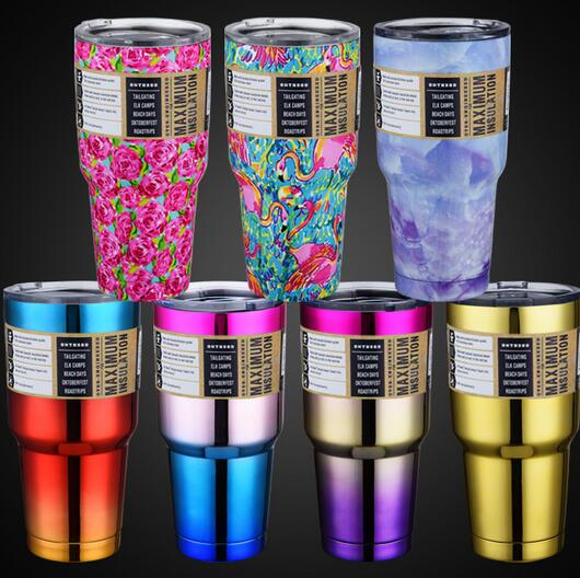 2da2f355062 30oz Stainless Steel Vacuum Insulated Tumbler with Lid - Double Wall Travel  Mug Cold or Hot Water Coffee Cup Gold