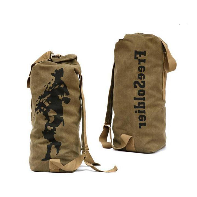 Outdoor font b Tactical b font Double shoulder Canvas Climbing Riding Mountaineering Large Capacity Travel Bag