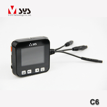 Motorcycle Wide angle lens  dual lens motorcycle camera DVR support GPS and wired controller