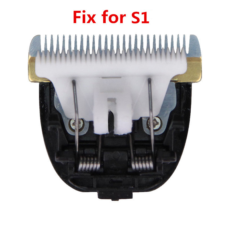 Original pet dog ceramic hair grooming trimmer clipper blade head compatible for S1,1pc/pack tpr stainless steel hair grooming cleaning comb for pet cat dog black blue silver