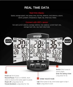Image 5 - IGPSPORT IGS50E Waterproof IPX7 Bike Computer GPS ANT+ Wireless Speedometer Bicycle Digital Stopwatch Cycling Speedometer