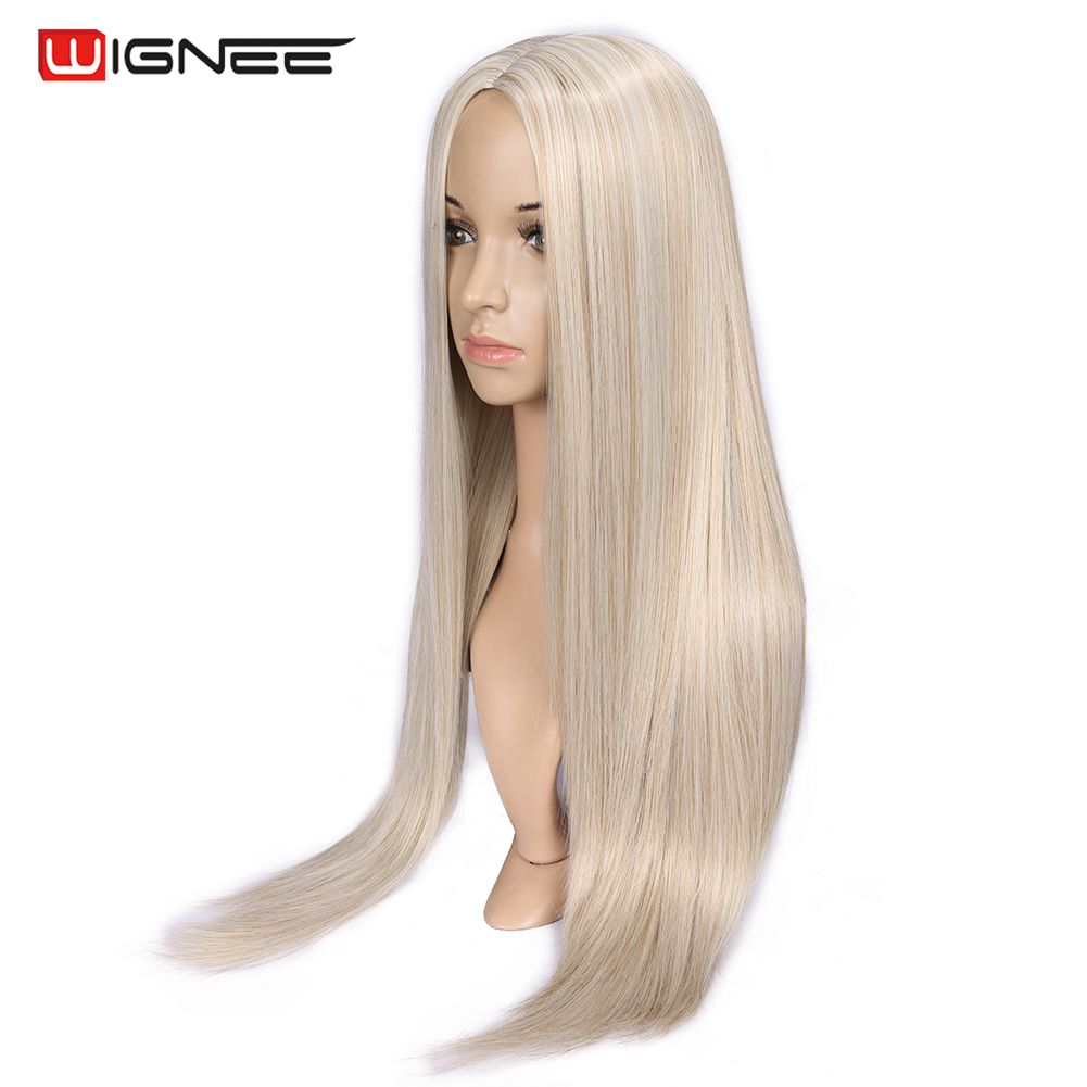 Peruca sintética para mulheres, peruca longa reta