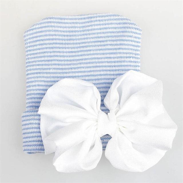Blue white hat