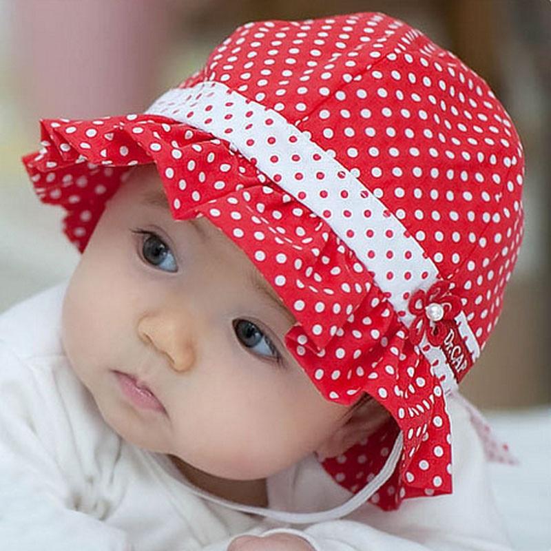 Bayi Katun Topi Bayi Musim Semi Topi Musim Panas Di Luar Ruangan Anak  Ikatan Simpul Mutiara 394c7d0985