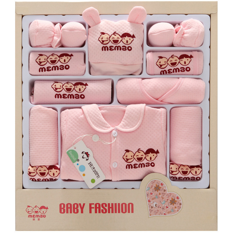 2018 New Autumn Winter Thick Newborn baby gift sets infant baby boy girl clothes package 100% cotton High Quality