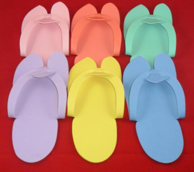 911511349db2 12 Pair Salon Pedicure Slipper   Disposable Foam Slippers-in Foot ...