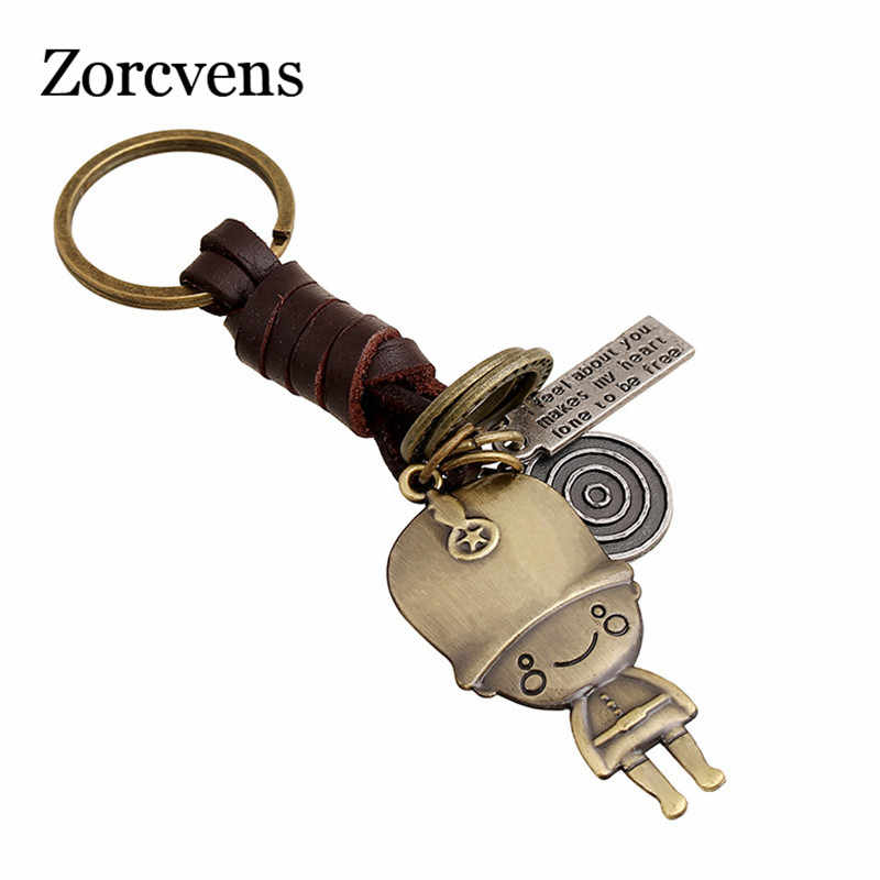 ZORCVENS น่ารักการ์ตูน Alloy Boy Girl Keychain บุคลิกภาพชายและนักเรียนหญิงจี้คีย์ Chains