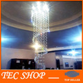 Best Price JH Luxury Lustre Crystal Pendant Lamp Luster Duplex Spiral Stairs Lights K9 Crystal Ceiling Chandelier LED GU10