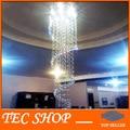 Mejor precio JH lujo Lustre cristal de la lámpara pendiente del Lustre Duplex escaleras de caracol luces K9 de cristal del techo LED GU10