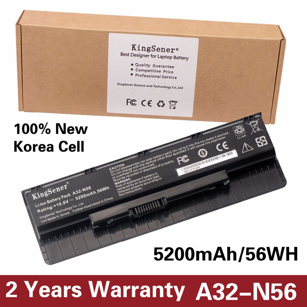 10 8V 5200mAh Korea Cell New A32 N56 Battery for ASUS N46 N46V N46VJ N46VM N46VZ