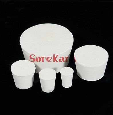 78/95mm Rubber Stopper For Laboratory Test Tube Solid Bungs Airlock 11 to 22 rubber stopper erlenmeyer flask plug bottle stopper test tube stopper
