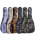 Guitar folk acoustic guitar package thick waterproof camouflage shoulder bag ukulele musical instrument paper leaf printing pack