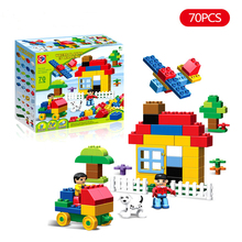 70pcs Large Particles Legoings Duplo Where Playing Is Learning Building Blocks Educational Bricks Baby City Toys For Children