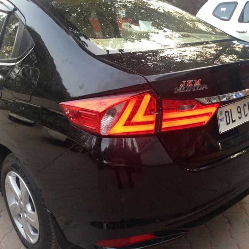 Car Styling For Honda City Sedan 2014-2015 LED Tail Lights Rear Lamps Tail Lamps Red Clear For BMW Style For Wholesale