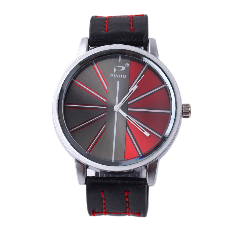 New Famous PINBO Brand Men Silver Big Dial Casual Quartz Watch Men Silicone Military Watches Relogio