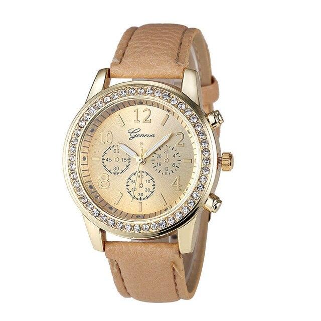TOP Brand Watch Women New Fashion Rose Gold Quartz Watch Luxury Rhinestone Brace