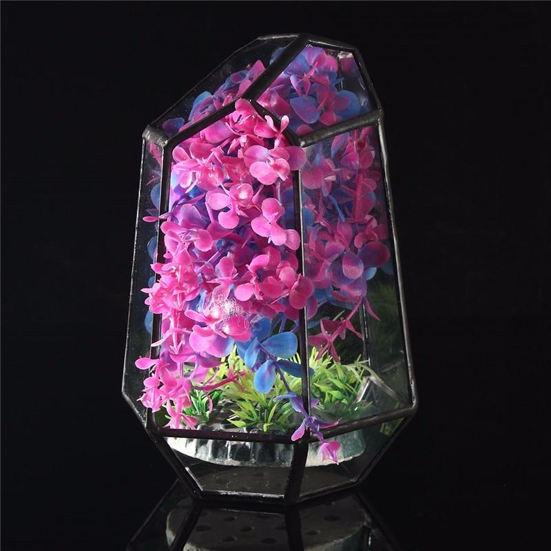Modern style and classic elegance Irregular Glass Geometric Terrarium Box Tabletop Succulent <font><b>Plant</b></font> Planter DIY Decoration