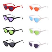 Pequeño Cateye triángulo Sexy Vintage lentes de sol ojo de gato mujeres Vintage moda gafas de sol carnaval única fiesta nocturna suministros