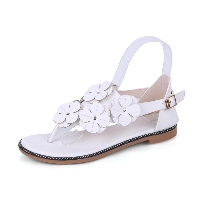 Frauen Sandalen Ymechic 2018 Süße Mädchen Dame Nieten Ankle Strap Grau Gelb Schwarz Feder Design Flache Ferse Gladiator Sandalen Frauen Sommer Schuhe