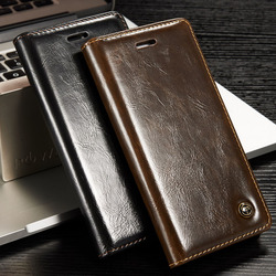 CaseMe Original Brand Leather Phone Cases For Apple iphone 7 Plus case iphone 7 / 7Plus case Coque Card Wallet Protective Cover 1