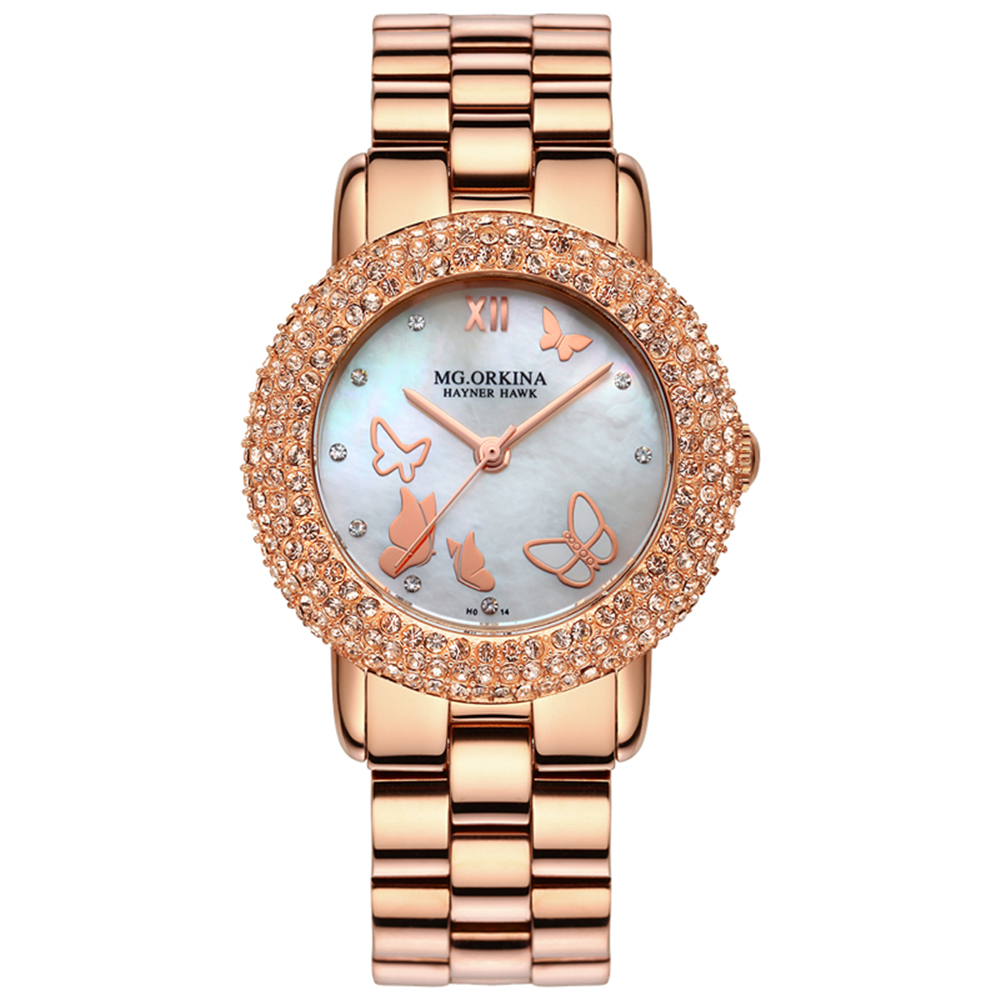 ORKINA New Women Rhinestone Watches Lady Dress Women watch Diamond Luxury brand Bracelet Wristwatch ladies Crystal Quartz Clocks women wristwatch women crystal rhinestone butterfly bracelet quartz watch wristwatch aug 23