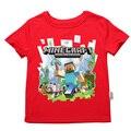 Ropa de 2017 Niños del Verano muchachas de los Bebés T-shirt Legoe Ninjago Ninja cartoon Camiseta de algodón tops rojo azul camisetas 2-14y