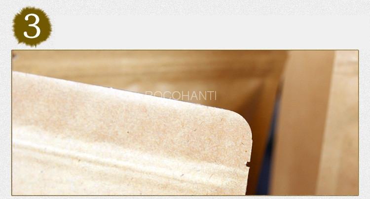 100 шт. крафт бумага самостоятельным закрывающийся чехол на молнии сумки алюминий фольга термосварочные клапан мешок логотип печати принять