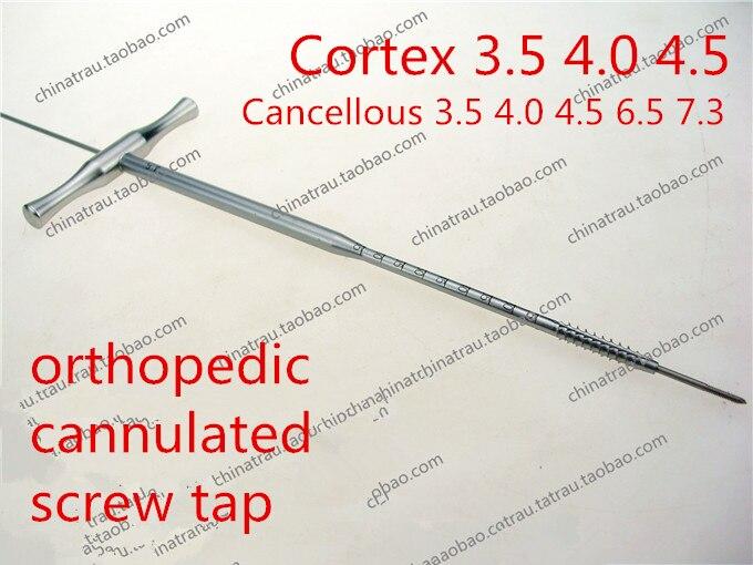 Médical instrument orthopédique canulée robinet Spongieux Creux robinet Supérieur membre inférieur canulé vis taraud poignée en T
