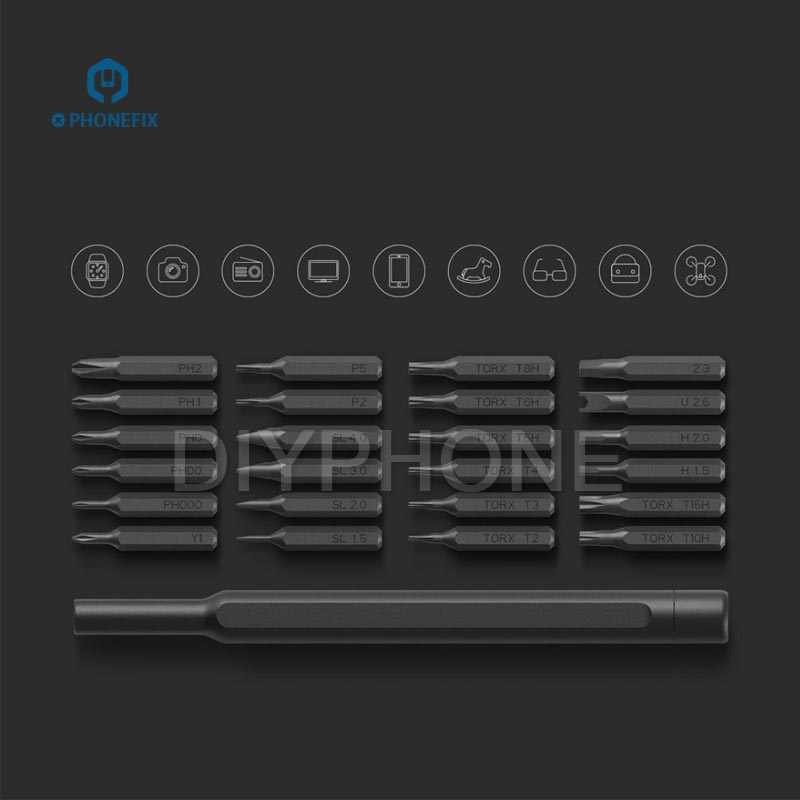 PHONEFIX 27bits Handy Magnetic screwdrivers tool box DIY phone repair disassembly set 1 handle Pen 24 driver tips 2 opening tool