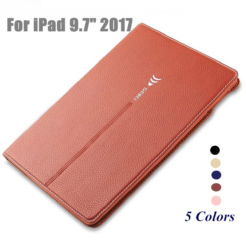 Luxury Case for New iPad 9.7 2017 Flip PU Leather Smart Cover Tablet Stand Case  for New iPad 9.7 Inch 2017 Model A1822 A1823 luxury slim with magnetic flip pu leather stand case for apple new ipad 9 7 2017 release tablet protective smart painting cover