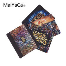 MaiYaCa League of Legends Logo Computer Mouse Pad Mousepads Decorate Your Desk Non-Skid Rubber Pad 18X22CM And 25X29CM