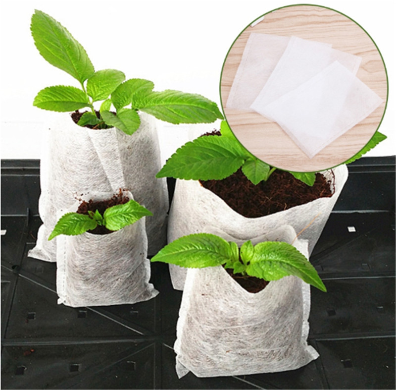 100/50 Pcs Seedling Plants Nursery Bags Organic Biodegradable Grow Bags Fabric Eco-friendly Ventilate Growing Planting Bags