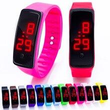 Детские часы светодиодные спортивные часы Для мужчин Для женщин детей часы силиконовые электронные цифровые часы студент наручные браслет для мальчиков и девочек
