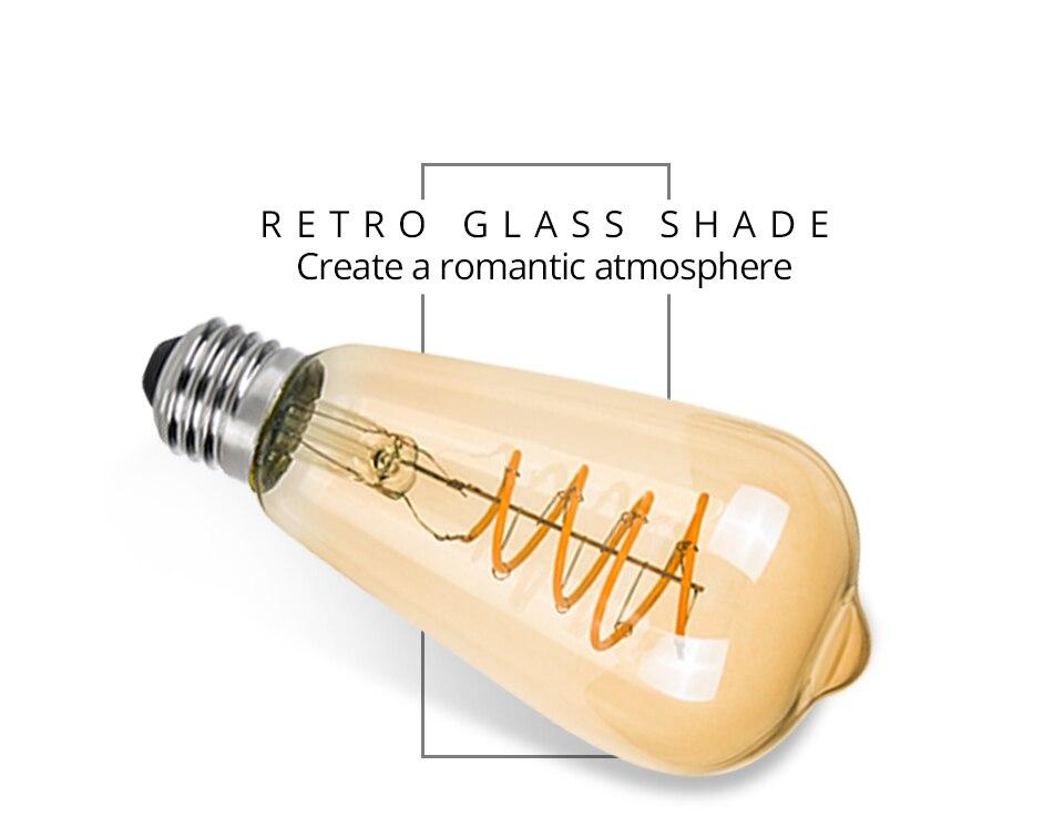 A60 ST64 G80 G95 Spiral LED Lamp Light Bulb LED Filament Bulb (5)