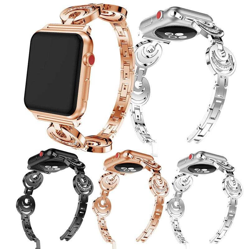 Für iwatch Apple Uhr S1 S2 S3 Smart Uhr Band Zubehör Armband Sport Dekoration Schöne Schmuck Strap für Frauen Hot