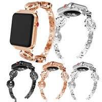 Para iwatch de Apple Watch S1 S2 S3 reloj inteligente banda accesorios pulsera deportes decoración joyería hermosa correa para las mujeres calientes