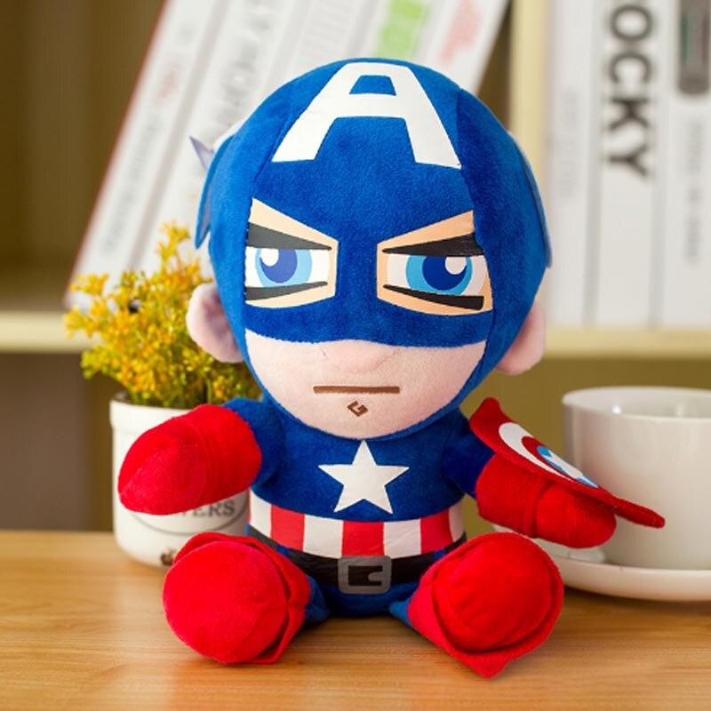 Marvel Мстители 4 плюшевые игрушки супергерой плюшевые куклы Капитан Америка, Железный человек Человек-паук Тор плюшевые мягкие игрушки Человек-паук - Цвет: Красный