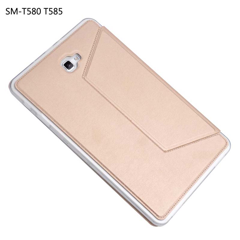 for Samsung Galaxy Tab A a6 10.1 SM-T580 SM-T585 T580N Tablet Cover, 2017 New Luxury Slim stand PU case+TPU silicone Back cover flip cover pu leather for samsung galaxy tab a6 10 1 2016 t585 t580 sm t585 t580n tablet case cover soft tpu back cover