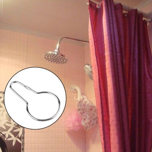 Silver Gourd Hooks Shower Curtain Hook Bath Bathroom Rings Clip Glide Hanger In Hangers Racks From Home Garden On Aliexpress
