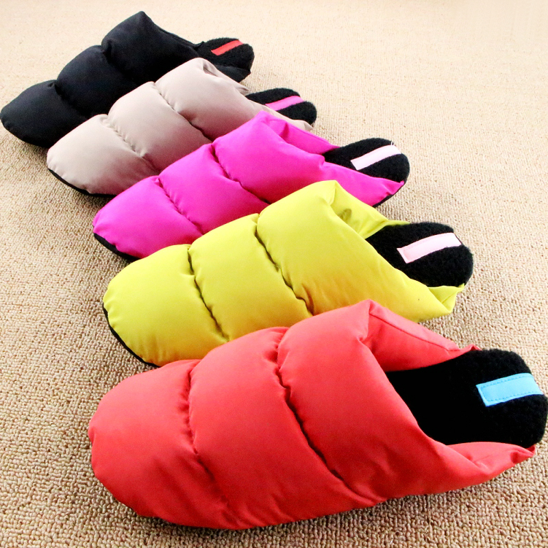 Plus Size Pantufa 2016 New Non slip Travel Light Multi colored Down Woman Indoor Slippers For