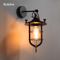 Vintage Wall Lamp Industrial Led Wall Light Retro Antique Wandlamp Metal Wall Sconce Stairs Bar Cafe Bedroom Vanity Light E27