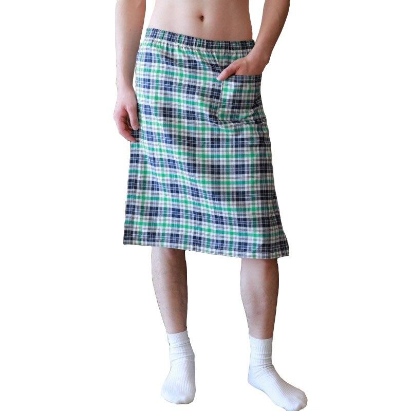 Pajamas For Men Breathable Sleepwear Quick-dry Men's Pajamas Loose Lounge Plaid Pyjama Homme Cotton Sleep Bottoms Men Clothing