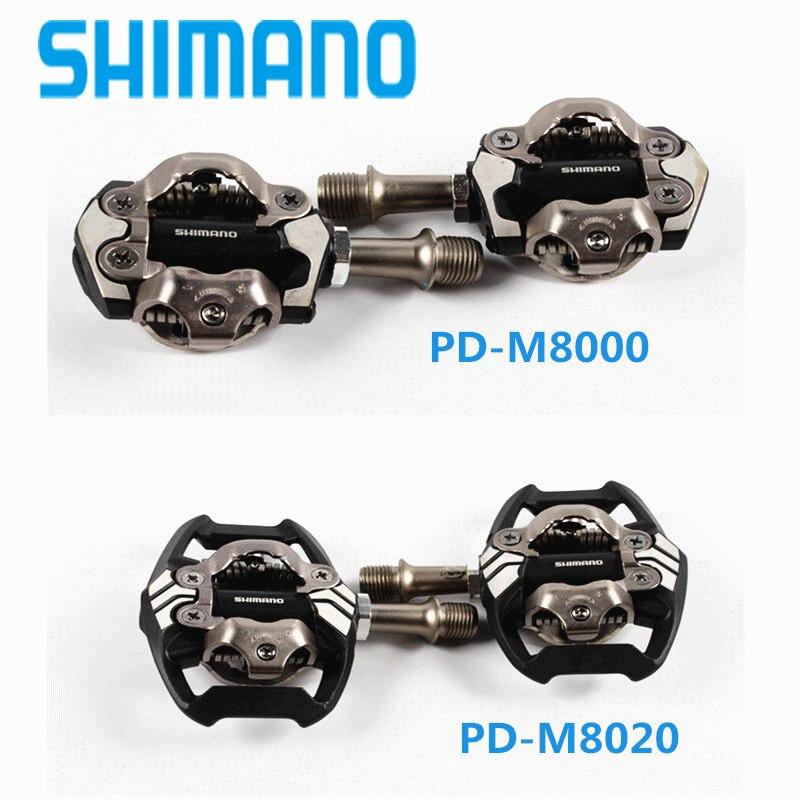 цена Shimano DEORE XT PD-M8000 m8020 Self-Locking SPD Pedals MTB Components Using for Bicycle Racing Mountain Bike Parts онлайн в 2017 году